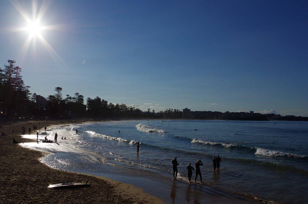 Langsamer Sonnenuntergang am Manley Beach...