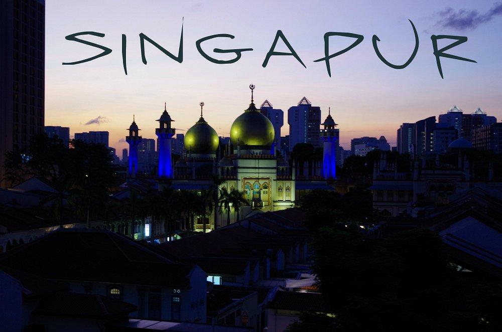 Sultan Moschee - die größte in Singapur