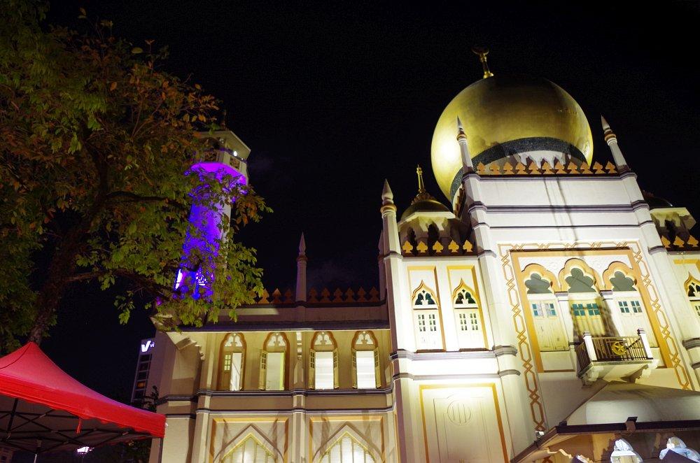 Die Sultan Moschee am Ende der Arab Street