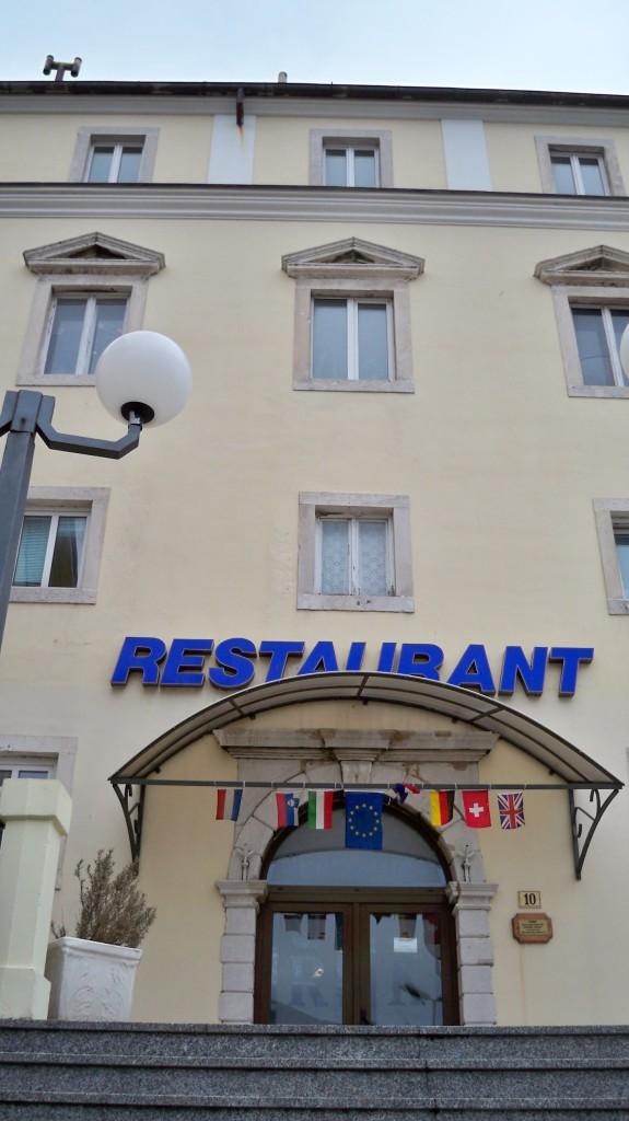 Hotel Zagreb in Senj, heute ein Restaurant