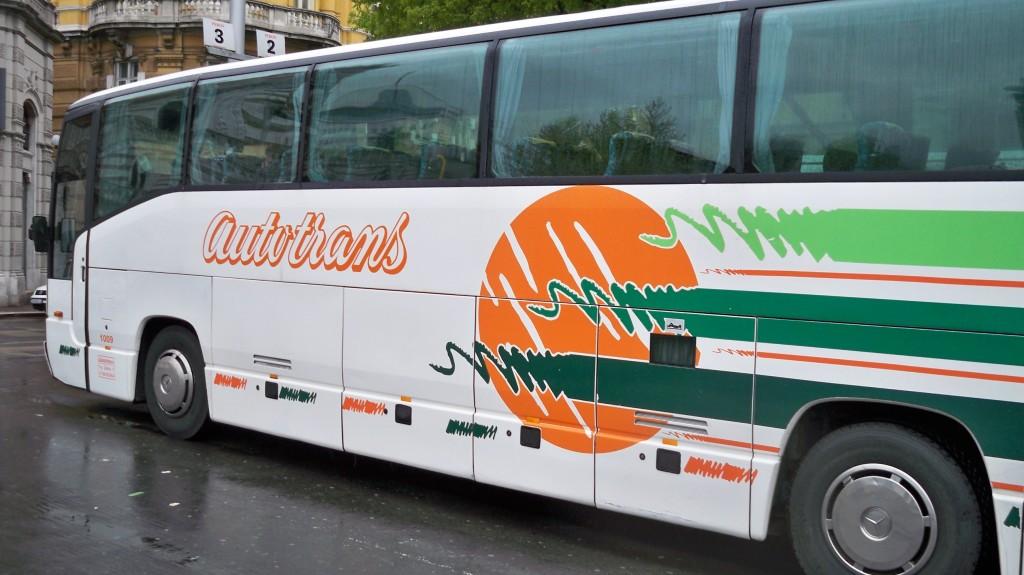 Kroatischer Bus des Busunternehmen Autotrans © weltvermessen.de