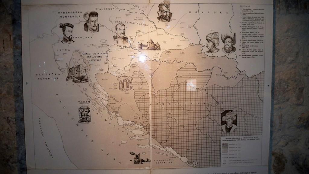 Schautafel im Uskokenmuseum der Burg Nehajgrad in Senj © weltvermessen.de