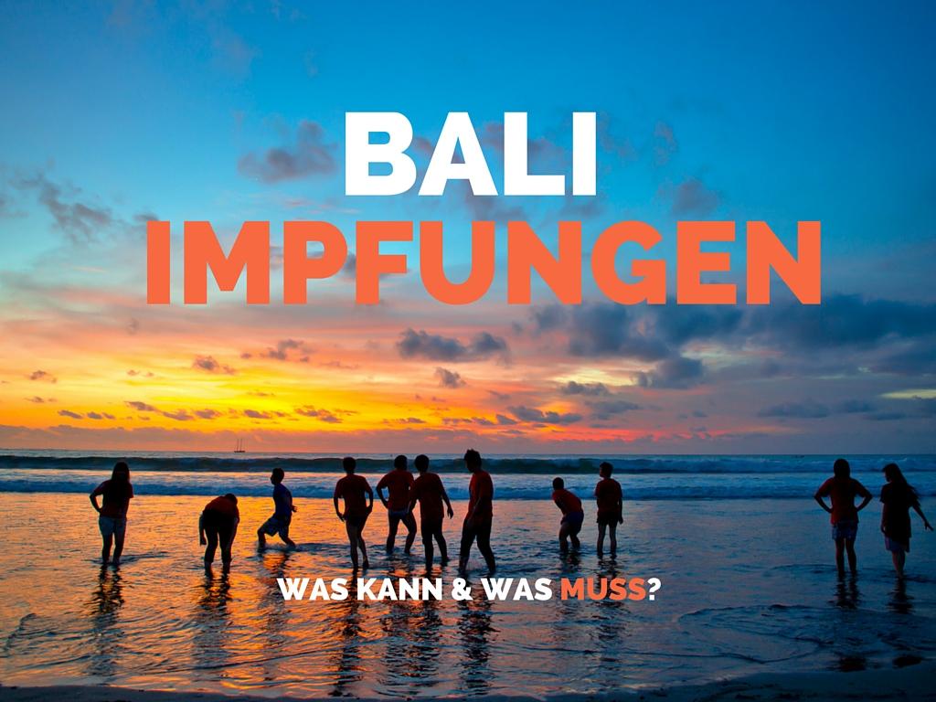 Bali Impfungen